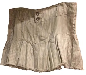 Da-Nang Mini Skirt Cream / beige with sage strips