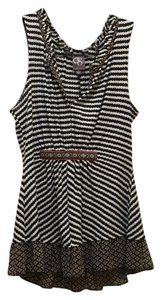 Anthropologie Top Black & White