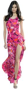 Diane von Furstenberg Floral Runway Ruffled Scoop Neck Dress