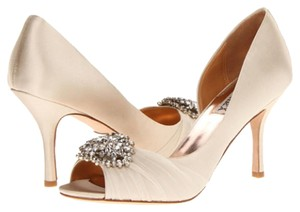 Badgley Mischka Vanilla Satin Formal