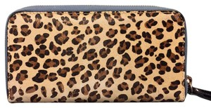 Anthropologie Miss Albright Genuine Fur Calfhair Zipper Wallet
