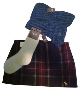 Abercrombie & Fitch Hollister Wool Plaid Skirt