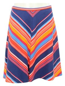 Shoshanna Celebrity Chevron A-line Skirt Blue and Red