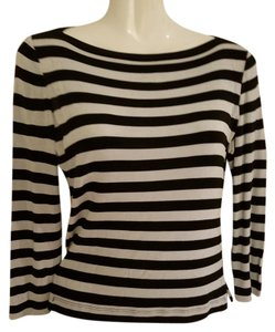 Cache Top Black and white strip