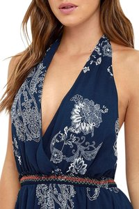 Blue Maxi Dress by Lulu*s Halter Paisley