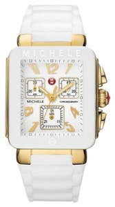 Michele Nwt michele park jelly bean gold and white watch $395