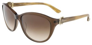 Salvatore Ferragamo Salvatore Ferragamo Crystal Brown Butterfly Sunglasses