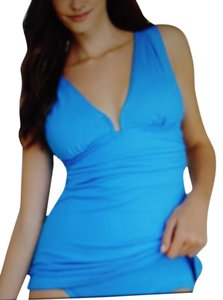 DKNY DKNY Sexy Beyond Glam Wire-Free Tankini Top~Turquoise Blue~Size Medium