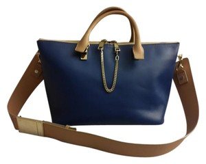 Chloé Chloe Tote Leather Satchel in Blue