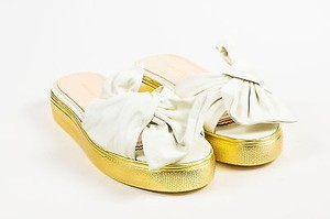 Charlotte Olympia Gold White Sandals
