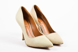 Givenchy Gold Tone Pony Beige Pumps