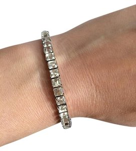 Swarovski Crystal Rhinestone Stretch Bracelet Bridal Bridesmaid