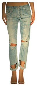 Citizens of Humanity Distressed Ankle Boyfriend Cut Jeans