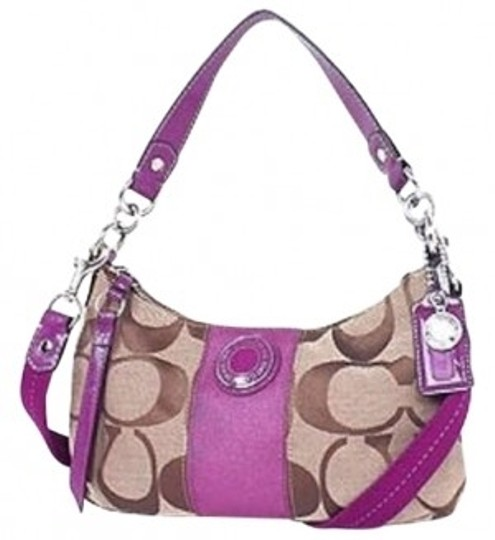 Preload https://item2.tradesy.com/images/coach-stripe-demi-handbag-purse-f19218-msrp-180-usd-new-tag-pink-signature-fabric-with-patent-leathe-190696-0-0.jpg?width=440&height=440