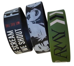 Hot Topic 3 Black Veil Brides band bracelets