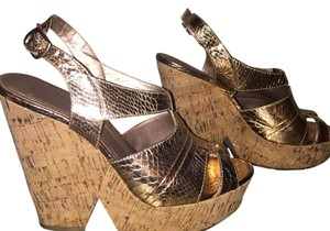 BCBGeneration Gold Wedges
