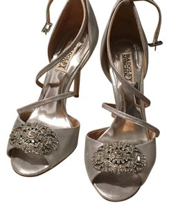 Badgley Mischka Silver Formal