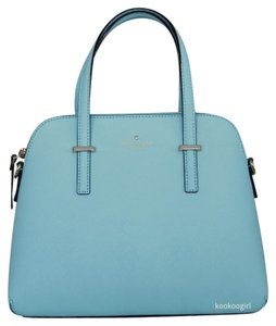 Kate Spade Leather Crossbody Satchel in Atoll Blue