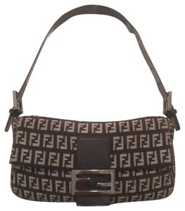 ee3dd44de6 Fendi Zucca Leather Black Gray Canvas Hobo Bag - Tradesy