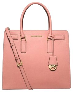 Michael Kors Michel Tote in Pale Pink Gold tone