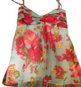 Abercrombie & Fitch Top Bright multi-colored floral