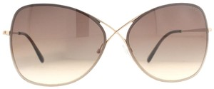 Tom Ford Tom Ford Colette Rose Gold Brown Gradient Butterfly Sunglasses