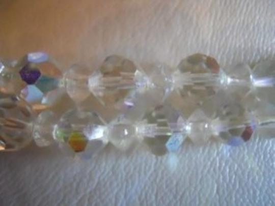 unknown Vintage double strand AB crystal necklace