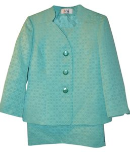 Le Suit 2-pc Teal Jacket / Skirt