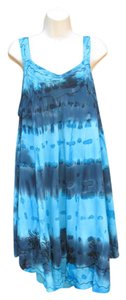 Mamta short dress Blue Plus-size Tie Dye Embroidered on Tradesy