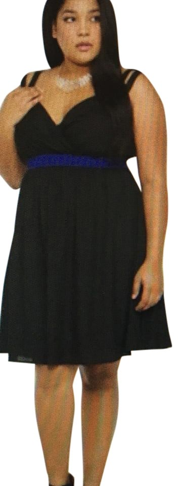 Torrid Black Colorblock Swing Short Night Out Dress Size 18 Xl