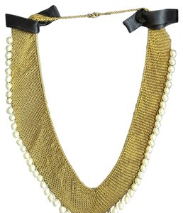 Tiffany & Co. TIFFANY & CO / ELSA PERETTI - SOLID 18k GOLD MESH NECKLACE WITH PEARLS