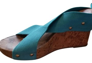 Montego Bay Club Teal Wedges
