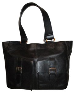 Gap Leather Tote in black
