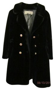 Russel Taylor Pile Fur-like Double Breasted Jacket Coat