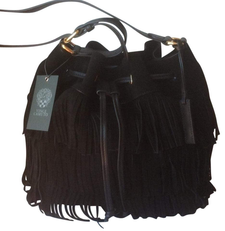 Vince Camuto New With Suede Fringe Shoulder Bag