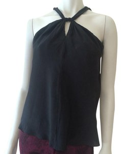 T Tahari Top Soft Black/Charcoal