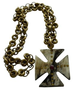Ashley Pittman AP Kenya Ashley Pittman AP Kenya Repurposed Horn Pendant with Bronze Chain