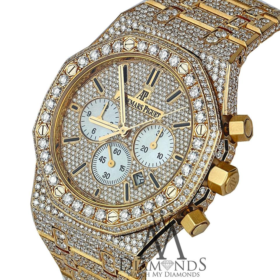 audemars watches royal quartz gg frosted piguet oak gold