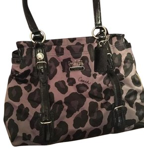 Coach Tote in Black, Gray