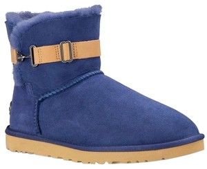 UGG Australia New With Tags Racing Stripe P Blue Boots