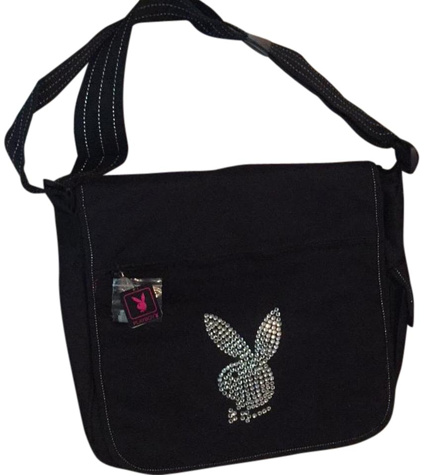 Playboy Rare Messenger Pc Black Canvas Laptop Bag - Tradesy 73502a26a88e5