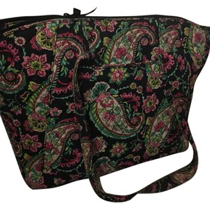 Vera Bradley Mocha Rouge Travel Bag