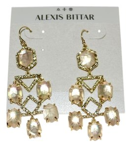 Alexis Bittar ALEXIS BITTAR Citrine Articulated Crystal Gold Chandelier Earrings