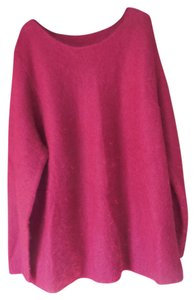 Other Plus-size Mohair Blend Rounded Neckline Sweater