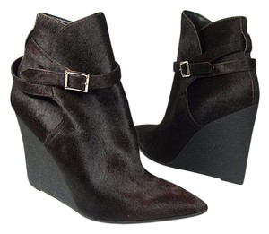 Burberry Prorsum Calf Wedge Ankle dark brown Boots