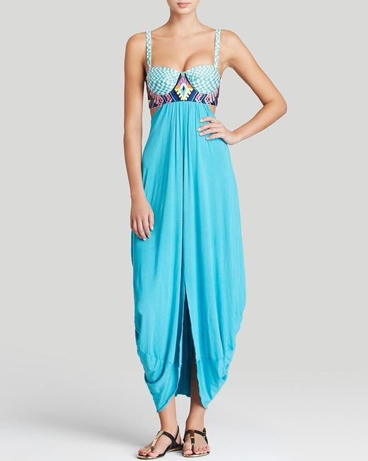 Blue Maxi Dress by Mara Hoffman Isabel Marant Self-portrait Tory Burch Zimmermann Haute Hippie