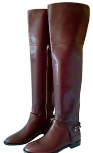 Burberry Over The Knee burgundy Boots