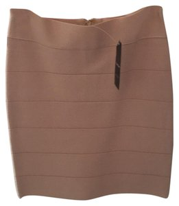 bebe Mini Skirt Tan