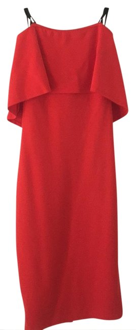 Item - Red ~great Fitted Mid-length Night Out Dress Size 2 (XS)