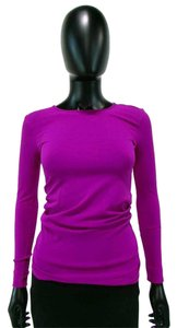 Tees by Tina Long Sleeve Crew Neck Knit T Shirt Purple